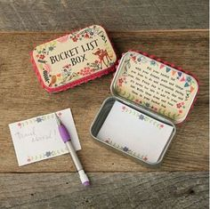 - Includes mechanical pencil - Features pink pompoms on the outside of the lid - Inspirational message under the lid - Great gift! Write down your prayers, notes or memories and keep them all in one s