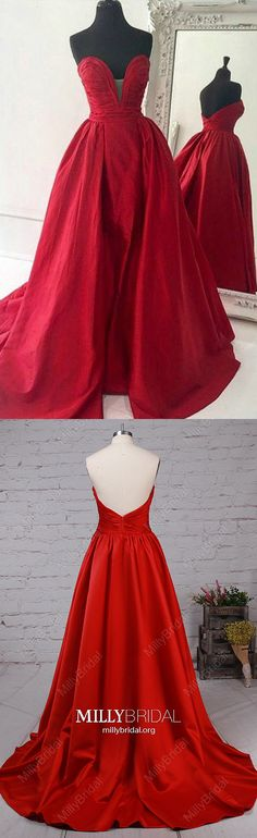 Red Prom Dresses,Long Formal Evening Dresses A-line,V-neck Military Ball Dresses Satin,Modest Wedding Party Dresses Open Back,Cheap Pageant Graduation Dresses Strapless Sparkly Prom Dresses, Strapless Prom Dresses, Simple Prom Dress, Elegant Prom Dresses, Beautiful Prom Dresses, Modest Wedding Dresses, Formal Evening Dresses, Party Dresses, Amazing Dresses