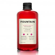 Fountain The Beauty Molecule - The latest buzz is around drinking your way to a more beautiful you. New food supplement, Fountain The Beauty Molecule, promises to bring the legend to life - the main ingredient, Resveratrol, is known for its ability to slow down and delay the ageing process.