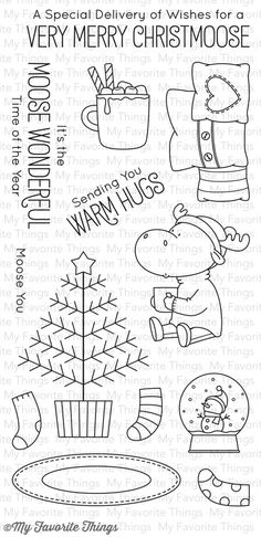 BB Merry Christmoose ~ $17.99 at mftstamps.com