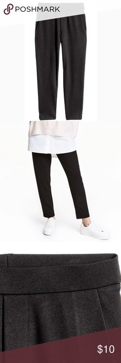 H&M Tregging Trouser leggings. Relaxed fit. Super cute but I got the wrong size and didn't return in time. Literally still in the plastic they came in after trying on for a few moments. Would look amazing with white tee tucked in and white birkenstocks H&M Pants Trousers