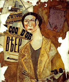 Larionov, Mikhail (1881-1964) - 1915 Portrait of the Artist Natalia Goncharova
