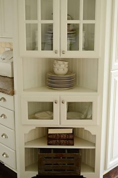before and after dining room makeover | corner china cabinets