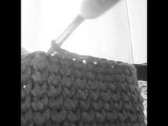 Búzaszem minta horgolása pólófonalból - YouTube