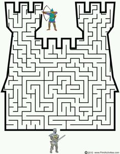 This castle shaped maze is a terrific printable medieval activity page for kids interested in the middle ages. Mazes For Kids, Medieval Crafts, Maze Puzzles, Knight Party, Magic Treehouse, Armor Of God, Medieval Times, Activity Sheets, Middle Ages