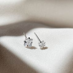 Excited to share this item from my #etsy shop: Dainty 4mm Square CZ stud earrings Sterling silver, Tiny 3mm Square diamond stud, small square crystal earrings, Cubic zirconia square stud Dainty Earrings, Dainty Jewelry, Sterling Silver Earrings Studs, Crystal Earrings, Stud Earrings, Nose Hoop, Jewelry Polishing Cloth, Diamond Studs, Etsy Shop