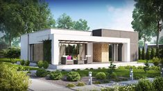 Ideas Home Architecture Exterior House Plans Bedrooms Modern House Facades, Modern Bungalow House, Modern House Plans, Small House Plans, Modern Bungalow Exterior, Single Floor House Design, Small House Design, Modern House Design, Flat Roof House