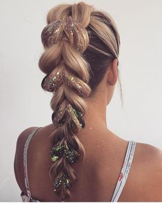 [New] The 10 Best Hairstyles Today (with Pictures) - Do you prefer 123 or Loving these glitter hair looks by Pretty Hairstyles, Braided Hairstyles, Wedding Hairstyles, Hairstyle Ideas, Girly Hairstyles, Princess Hairstyles, Hairdos, Princess Braid, Festival Braid