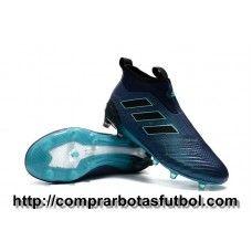 size 40 0bd5b 78cae España Botas De Futbol Adidas ACE 17+ Purecontrol FG Tinta Oscura Agua  Negro Core