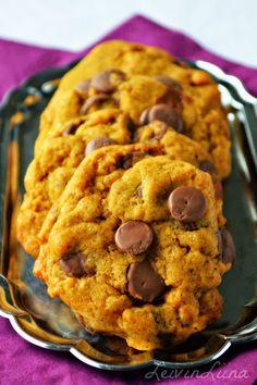LeivinLiina: Suklaiset kurpitsacookiet