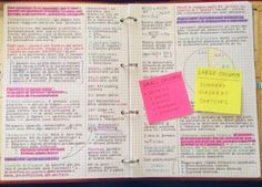 Since you guys asked me about my double column notes-taking method, here it is how it works. It's very simple and easy to use when you want to repeat the subject before exams or when you have to study from a huge book text! :)