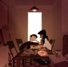 Чудесные, солнечные итрогательные работы художника-иллюстратора Паскаля Кемпиона.