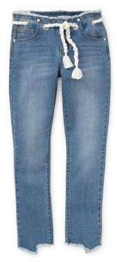 Habitual Girl's Sabrina Slim-Fit Grommet Capri Jeans