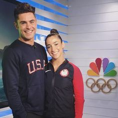 """Pin for Later: Relive the Olympics With the Most """"Liked"""" Photos on Instagram When Aly Raisman played it cool with Zac Efron."""
