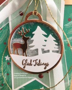 Gift Tag Shaker using Stampin Up's Merriest Wishes by Jan McQueen. More info…