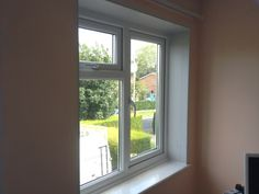 Interior view of a PVC window