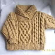 Liam cross-neck cable sweater for baby or toddler PDF knitting pattern Baby Knitting Patterns, Knitting For Kids, Baby Patterns, Knit Baby Sweaters, Cable Sweater, Toddler Sweater, Baby Knits, Pull Poncho, Crochet Baby