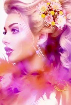 Beautiful Fantasy Art, Beautiful Gif, Simply Beautiful, Beautiful Places, World Gif, Digital Art Girl, Angel Art, Elegant Woman, Eyeshadow Makeup