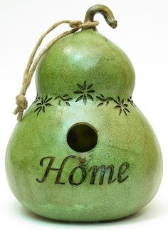 simple bird house gourd