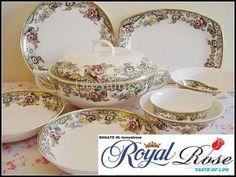 Bone China Dinnerware Set-England Rose Orginal from Tangshan Red ...