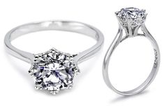 I'm absolutely in love with the Tacori 2503RD75 setting. Less in love with the designer pricetag. $2600 ish, platinum.