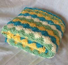 Colorful Stroller Crochet Baby Blanket Boy by HookYarnAndHooper