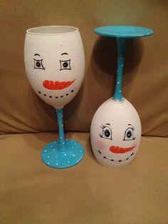 Handpainted wineglasses