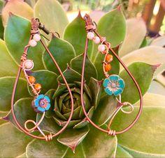Aluminum Wire Jewelry, Handmade Wire Jewelry, Wire Wrapped Jewelry, Boho Jewelry, Jewelry Ideas, Beaded Jewelry, Jewelry Design, Unique Jewelry, Sea Crafts
