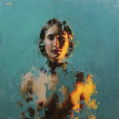 """Mia Bergeron, """"Resolved"""" 24""""x24"""" oil on panel. Available through Gallery 1261…"""