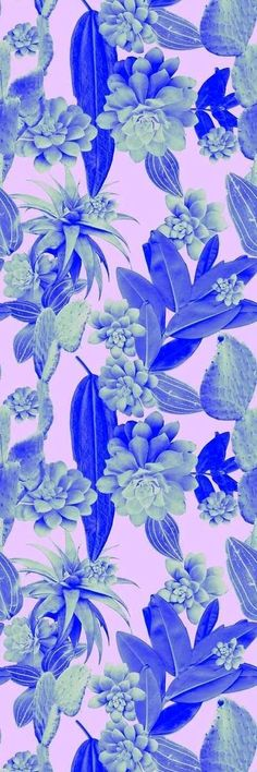 Leaf and cactus print Rhianna Ellington