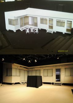 Before and after. Set model to real set in Benedict Andrews' The Seagull at Belvoir. http://www.belvoir.com.au/everybreath