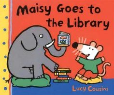 Tuesday, March 31, 2015. Maisy goes to the library in search of a book about fish and a quiet place in which to read it.