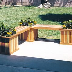 Planter Bench Woodworking Plan by U-Bild Woodworking Plans