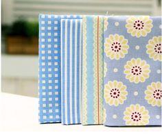4psc/set 1/8 yard Spring Blue Color 20's Oxford by KoreanFabric