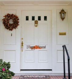 Harvest Door Decal Thanksgiving Vinyl Lettering for by LucyLews Order Form Template Free, Welcome Door, Senior Home Care, Monogram Decal, Scholarships For College, Garage Plans, Pottery Making, Healthy Living Tips, Vinyl Lettering