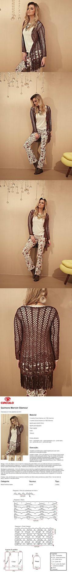 Receitas Círculo - Quimono Marrom Glamour