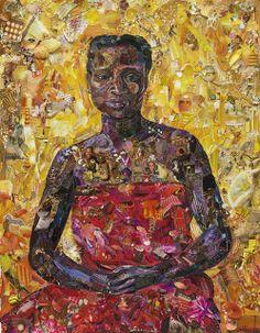 Vik Muniz, Pictures of Magazine 2: Seated Black Woman, after Felix Vallotton (2013)