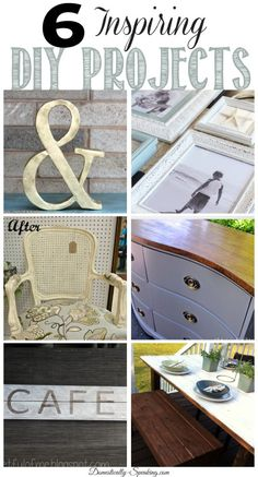 6 Inspiring DIY Projects... Feature Friday - Domestically Speaking