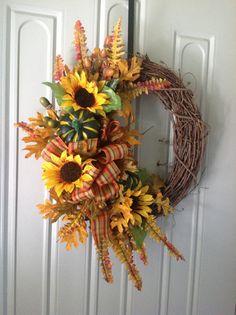 Fall grapevine wreath, thanksgiving