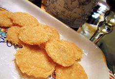 HOMEMADE CHEESE CRISPS! Zero carbs, great crunch.