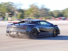 2000+HP X version UGR Lamborghini Gallardo...376kph(233mph) in 1/2 mile...