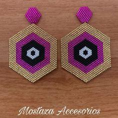 Seed Bead Earrings, Beaded Earrings, Seed Beads, Beaded Crafts, Jewelry Crafts, Mustard Accessories, Cat Crafts, Geometric Jewelry, Bead Earrings