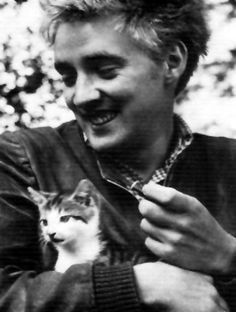 Oskar Werner and cat Patricia Highsmith, Jules And Jim, Men With Cats, Good Old Times, And Just Like That, Cat People, Man In Love, Cool Cats, Famous People
