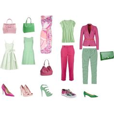 Spring 2012 trend- pink and green