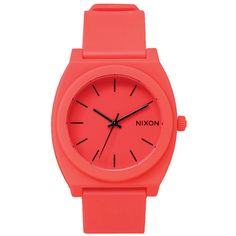 Nixon Mens Nixon The Time Teller P Watch - Neon Orange Movement: Miyota Japanese quartz 3 hand