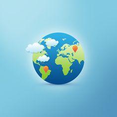 Иконка планеты Земля