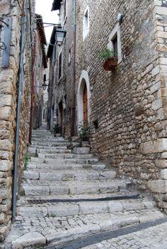 Medieval town of  Sermoneta - Italy