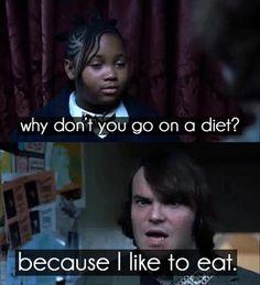 I like to eat!
