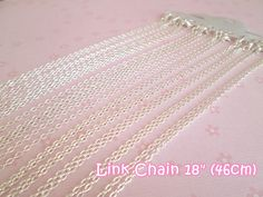 3 Silver Plated Lobster Clasp Link Chains   18 by cutiestuffs, $4.25