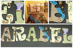 Personalized handpainted wooden letters by KidsLetteringByTini